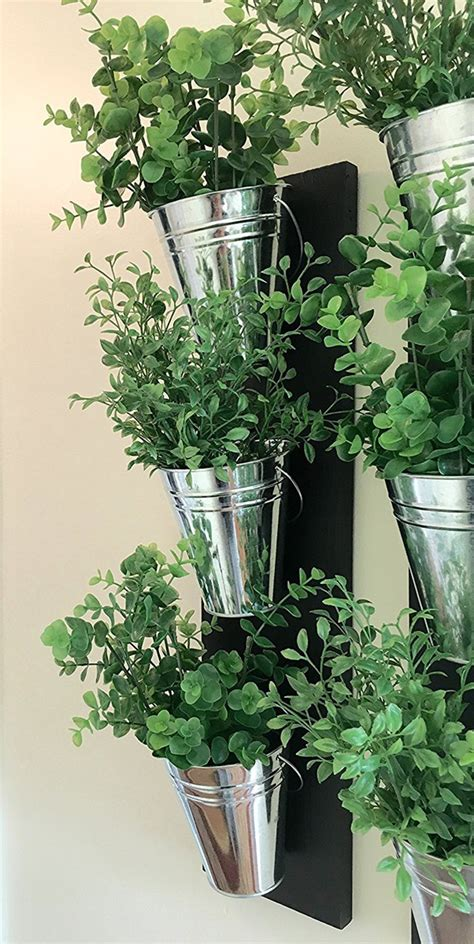 indoor wall planter vertical indoor wall planter with galvanized steel pots