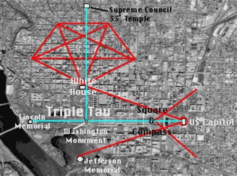 washington dc city layout map freemasonry and washington d c s layout