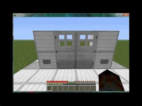 How To Open Iron Doors In Minecraft by How To Minecraft How To Make Both Iron Door Open At The