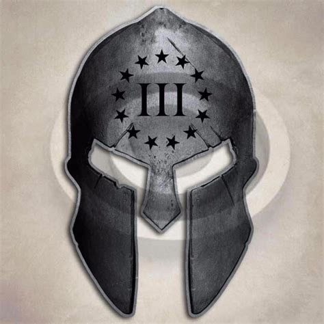 3 percenter spartan helmet sticker gun protection bill of