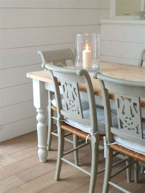 different ways to paint a table chairs different combo with the backs and rush seats