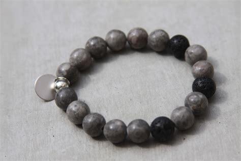 grey beading grey mai jasper gemstone bracelet reija jewelry