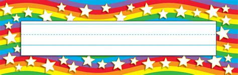 Printable Star Nameplates | star rainbow desk toppers name plates t 69026
