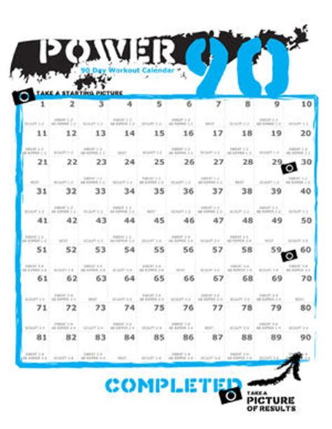 Calendar 90 Days Power 90 90 Day Calendar Calendar Template 2016