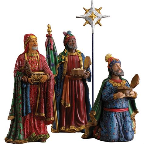 real life nativity three kings with star leaflet missal