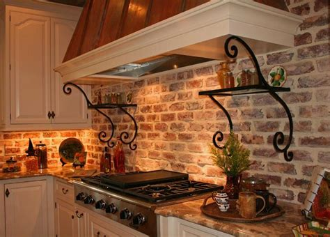veneer kitchen backsplash brick veneer backsplash great home decor styles with