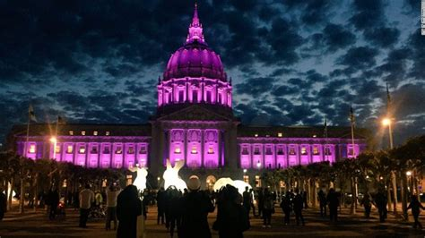 The Prince Of Light turning purple to honor prince