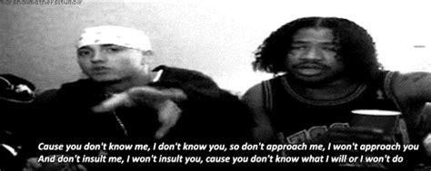 eminem you don t know lyrics don t approach me eminem gif wifflegif