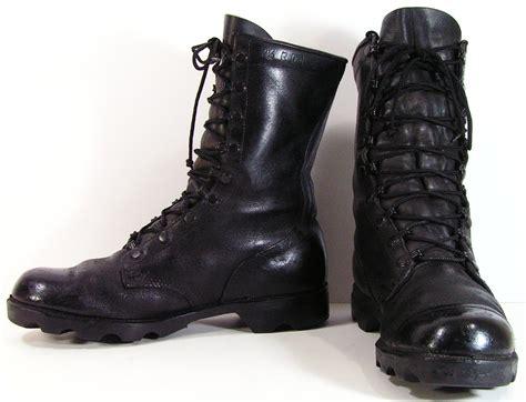 vintage combat boots womens 9 m b black leather mens 7 5 d r