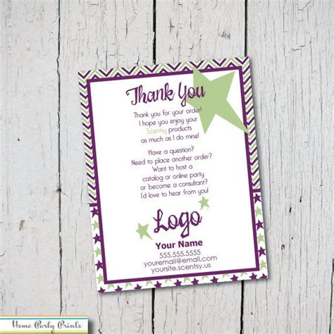 Scentsy Thank You Card Ideas