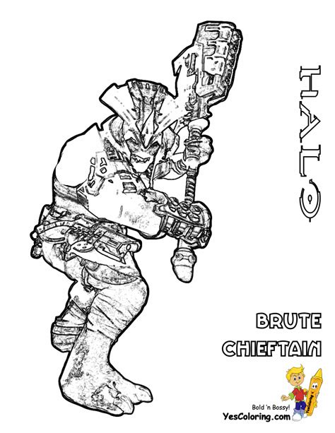 halo coloring pages online