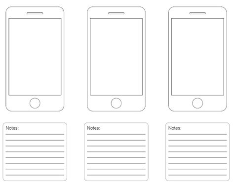 20 Free Printable Sketching And Wireframing Templates Iphone Layout Template