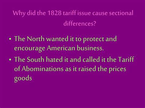 sectional tariff ppt the jackson era powerpoint presentation id 6667689