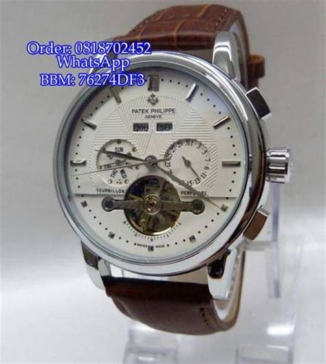 Jam Tangan Patek Philippe Chrono Otomatis Harga Distributor Termurah 3 jual patek philippe geneve b1075g leather brw for