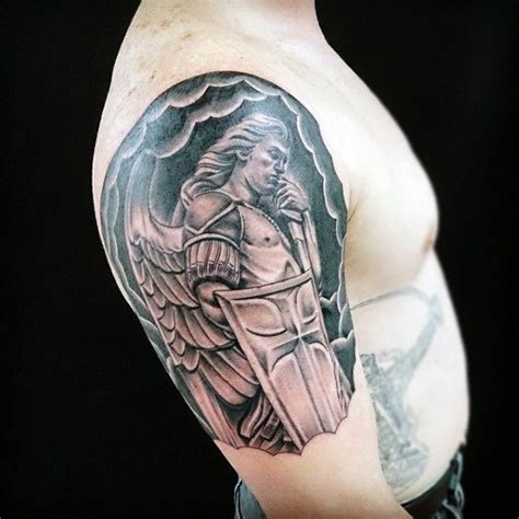 angel warrior tattoo 100 guardian tattoos for spiritual ink designs