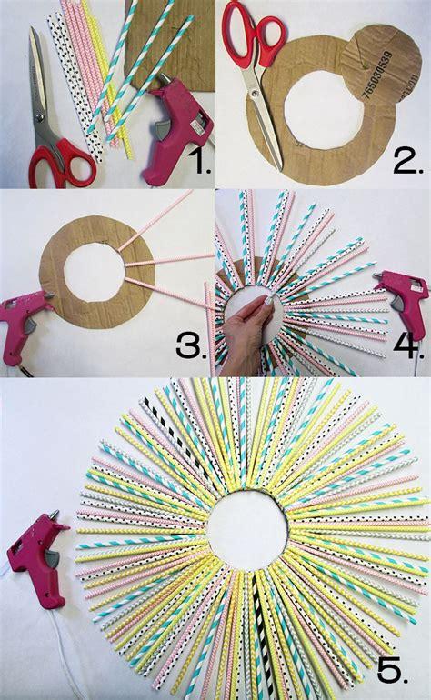 diy newspaper crafts diy paper straw wreath make