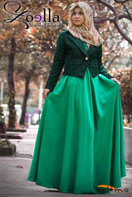 S Buffy Tunik Mocca Maroon zoella 3 hijau baju muslim gamis modern