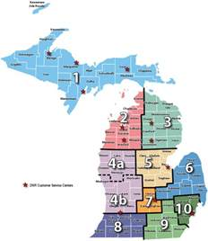 Michigan Dmu Map by Dnr Michigan Dnr Customer Service Centers