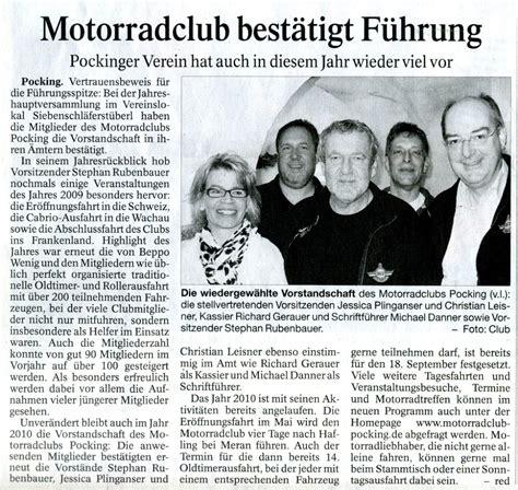 Motorradclub Pocking by Presse 2010