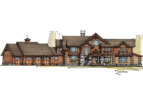 house plans architectural mountain lodge with sun room 18704ck architectural designs house plans