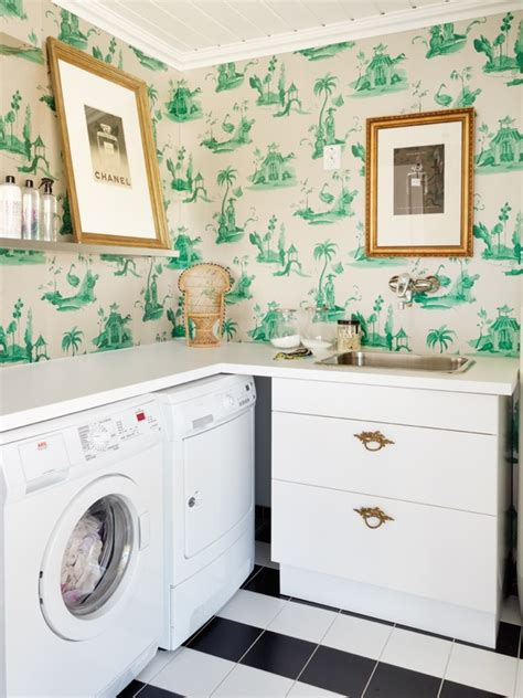 laundry wall layout laundry room wallpaper simple home decoration