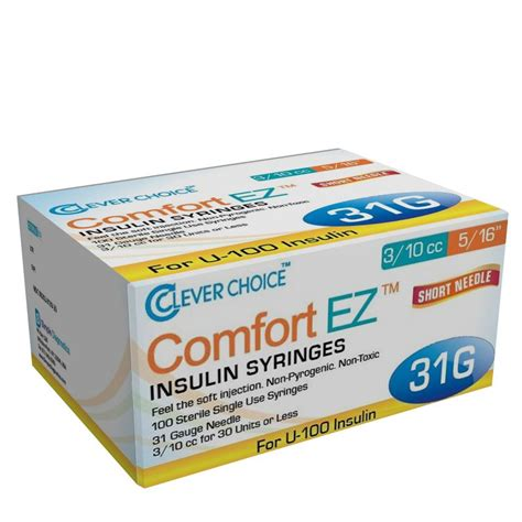 choice comfort clever choice comfort ez insulin syringes 31g 3 10 cc 5 16
