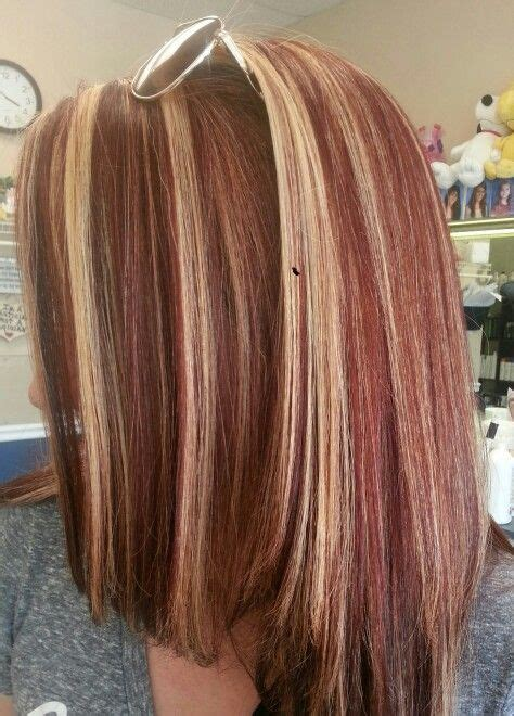 pics of lo lites in white hair stacey h 8 15 14 base color med red copper brown hi lites
