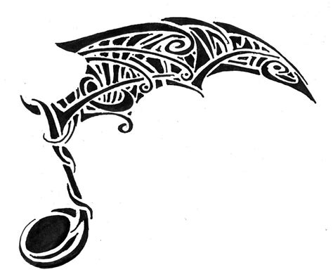 tribal tattoo music insights notes designs