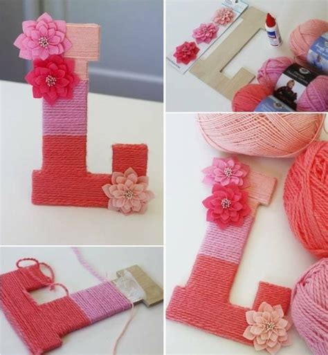Letter Diy Letter Met Wol Touw Creatief Knutselen Yarns And Letter L