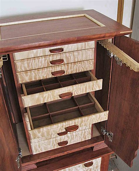 Handmade Jewelry Box Plans - armoire jewelry box with necklace holders