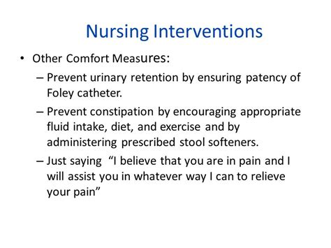 comfort measures for pain pain management comfort rest and sleep ppt download