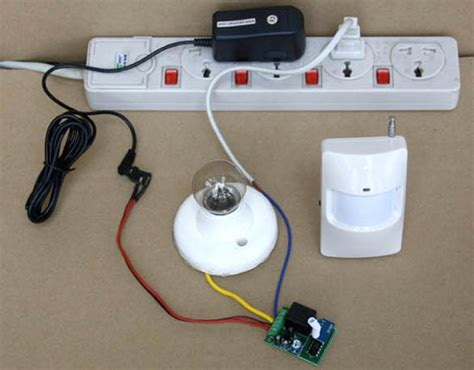 rfremotecontrol diy motion detector light