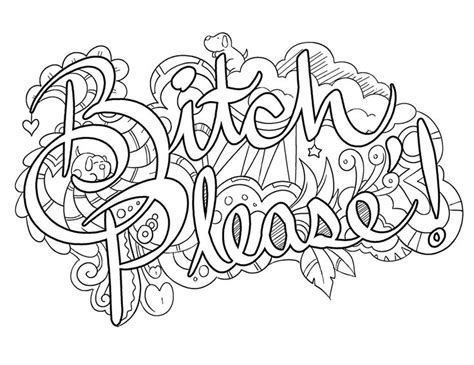 coloring pages for adults words https www facebook com colorfullanguageart swear words
