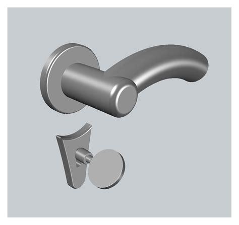 maniglia porta dwg eyescad ferramenta 3d