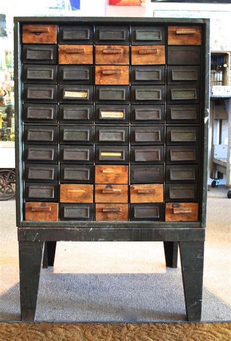 vintage metal drawer storage cabinet vintage industrial metal 50 drawer tool craft storage