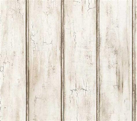 Fake Beadboard - distressed white beadboard faux wood wallpaper aged brown