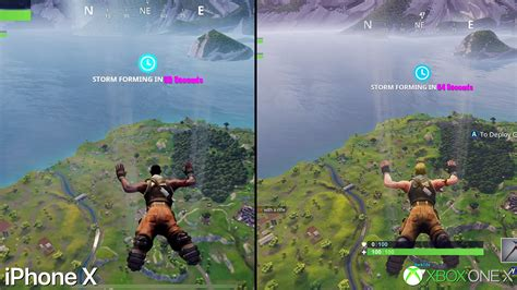fortnite vs pubg mobile fortnite mobile on iphone x vs xbox one x graphics