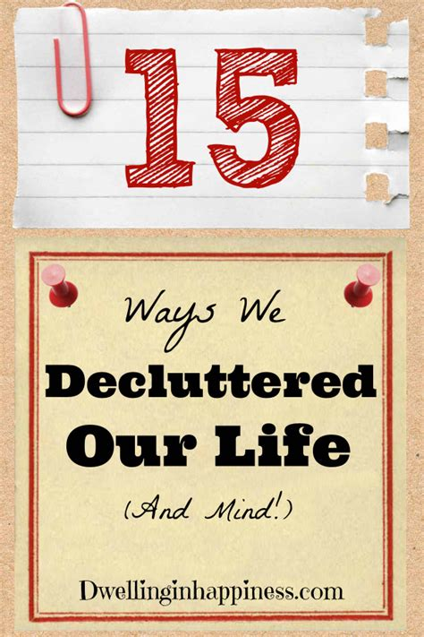 15 Ways To Declutter Your Mind by Weekend Wind Link 53 What Does