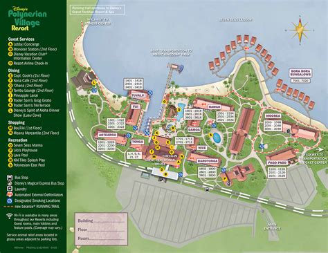 disney resort map walt disney world polynesian resort map