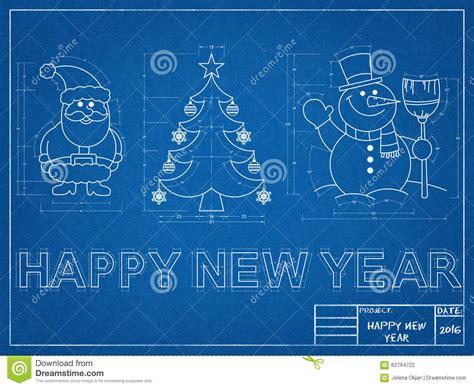 symbols the new year new year symbols blueprint stock photo image 62794722
