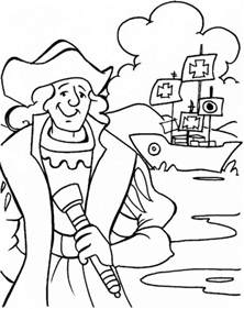 Columbus Coloring Pages columbus day coloring pages family net guide to