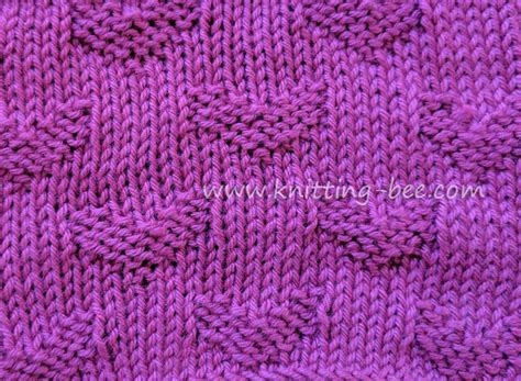 simple pattern library sweet hearts free knitting stitch knitting bee
