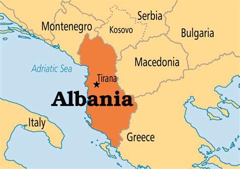 Albania Map In Europe albania operation world