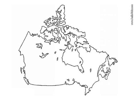 printable coloring map of canada coloring pages