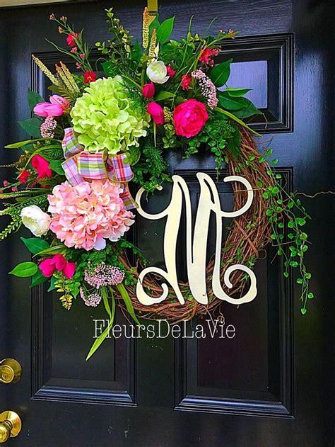 front door wreath ideas best 25 initial door wreaths ideas on initial