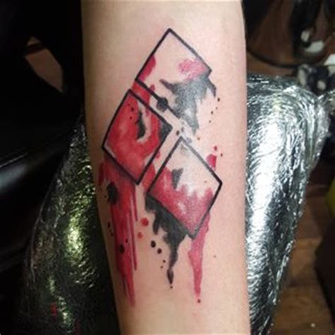 watercolor harley quinn tattoo 27 harley quinn symbol tattoos