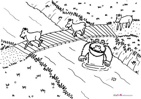 Three Billy Goats Gruff Coloring Pages Az Coloring Pages Three Billy Goats Gruff Coloring Page