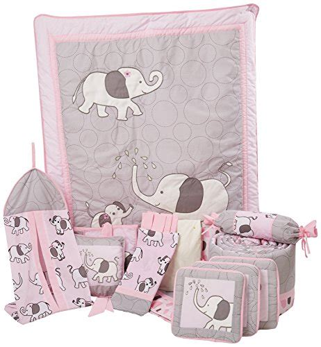 pink and grey elephant crib bedding boutique pink gray elephant 13pcs crib bedding sets