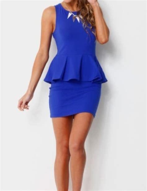 Blue Peplum Dress dress blue dress peplum peplum dress wheretoget