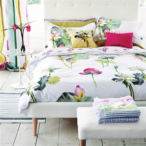 designer guild bed linen buy designers guild nymphaea duvet cover amara